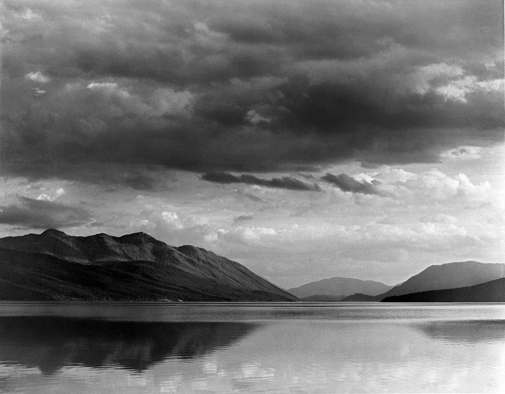 Ansel Adams Evening Mcdonald Lake Glacier National Park
