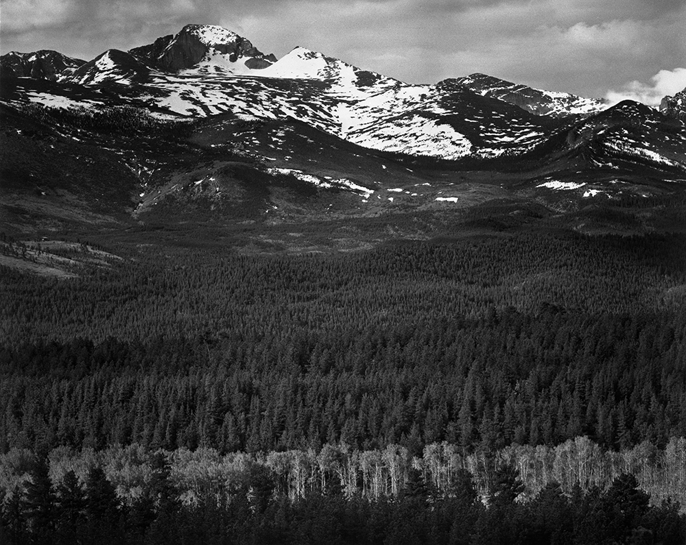 Ansel Adams Long S Peak From Road Rocky Mountain