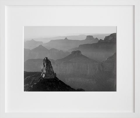 View with Rock Formation, Grand Canyon National Park (Framed + Ready to Ship)