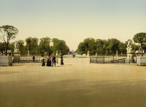The Tuileries and Champs-Elysees, Paris, 1900