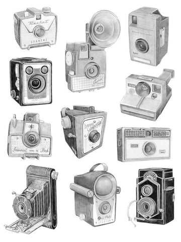 Graphite Camera Drawings