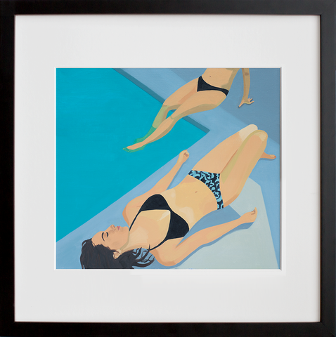 Poolside (Framed + Ready to Ship)