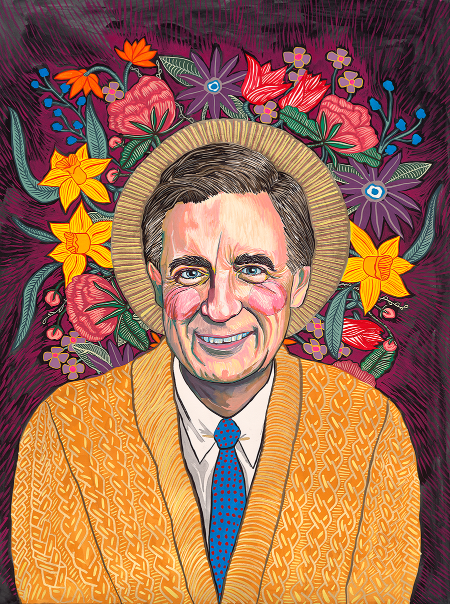 Mister Rogers Portrait II (quick-ship)