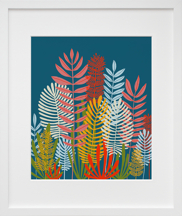 Ferns (framed + quick-ship)