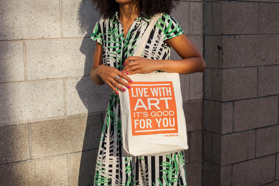 Live With Art Canvas Tote Bags