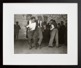 Jitterbugging in Negro juke joint, Saturday evening, outside Clarksdale, Mississippi - and - A Negro going in the Entrance for Negroes at a movie theater, Belzoni, Mississippi (pair)