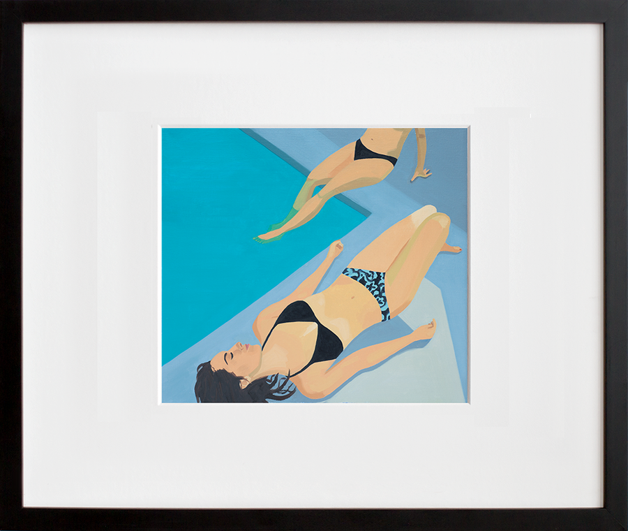 Poolside (framed + quick-ship)