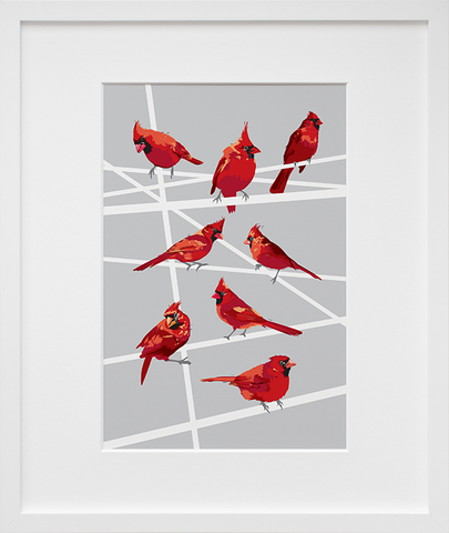 Cardinals #2 (Framed + Ready to Ship)