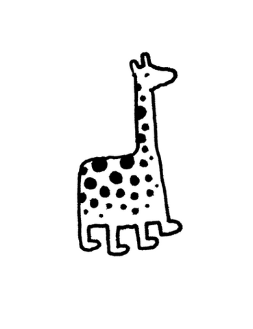 Original Giraffe Drawing