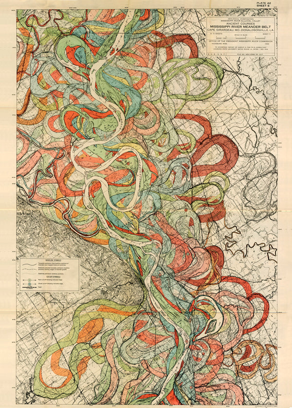 Plate 22, Sheet 6, Ancient Courses Mississippi River Meander Belt (quick-ship)