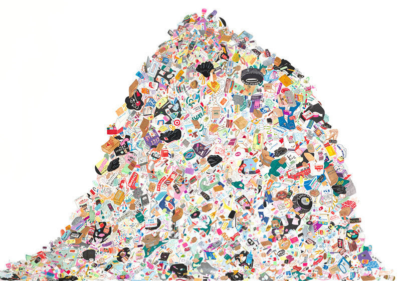 Megan Whitmarsh S Trash Mountain 20x200