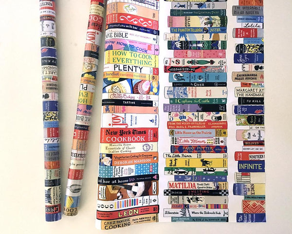 Ideal Bookshelf Wrapping Paper