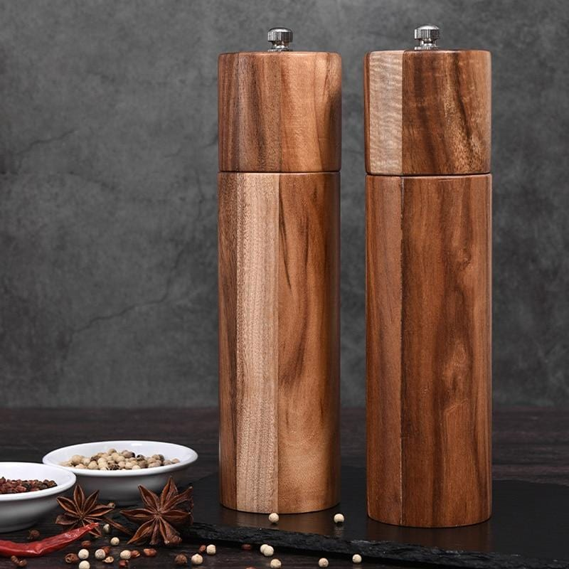 Acacia Wood Salt and Pepper Grinders