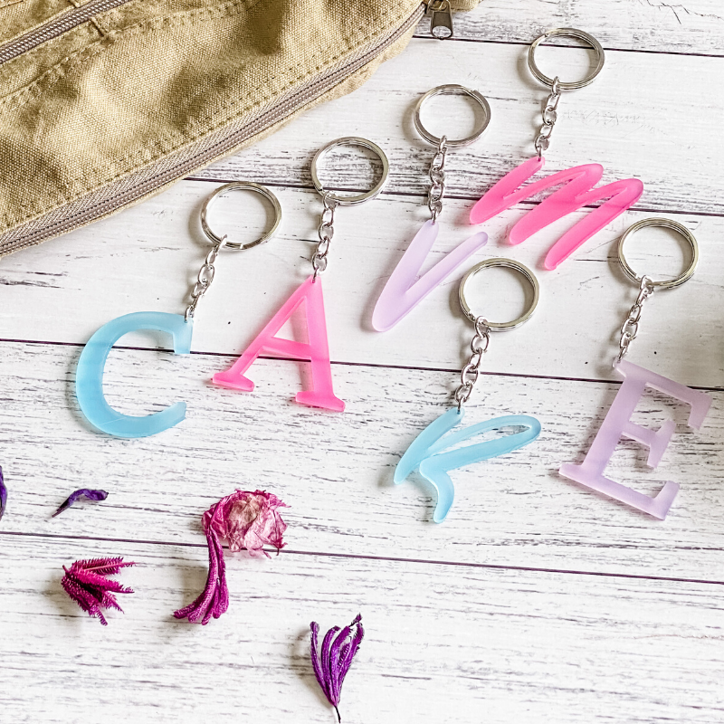 Personalised My-Initial Keyring