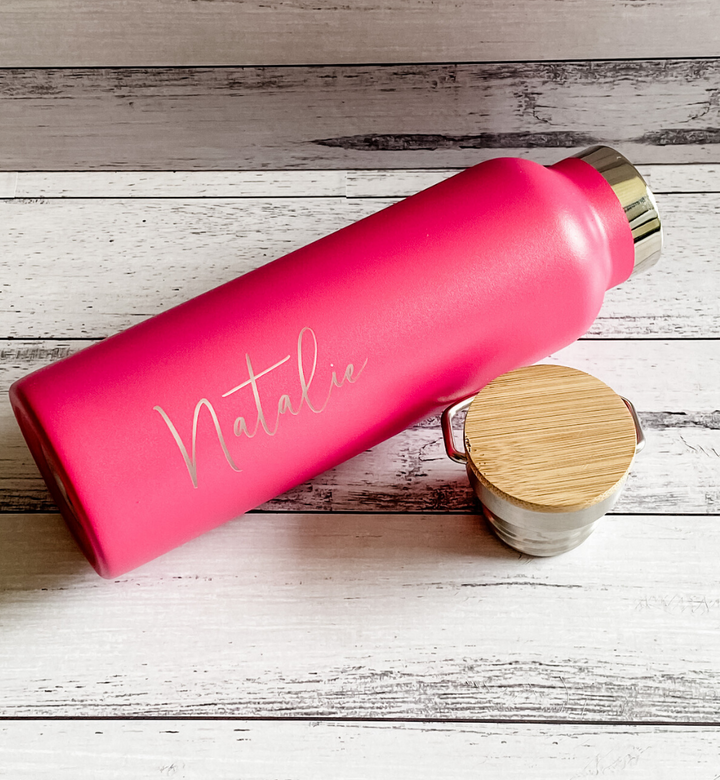 MDC Nomad Personalised Vacuum Bottle pink