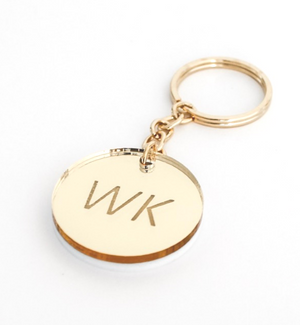 MirrorMe Gold Personalised Keyring