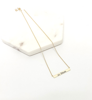 Narrow Plate Personalised Name Necklace