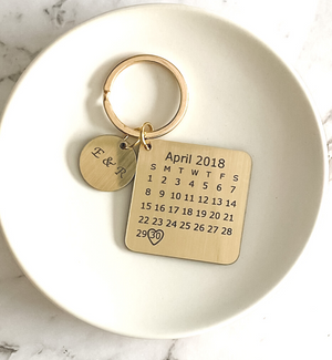 Moment-in-Time Personalised keyring keychain