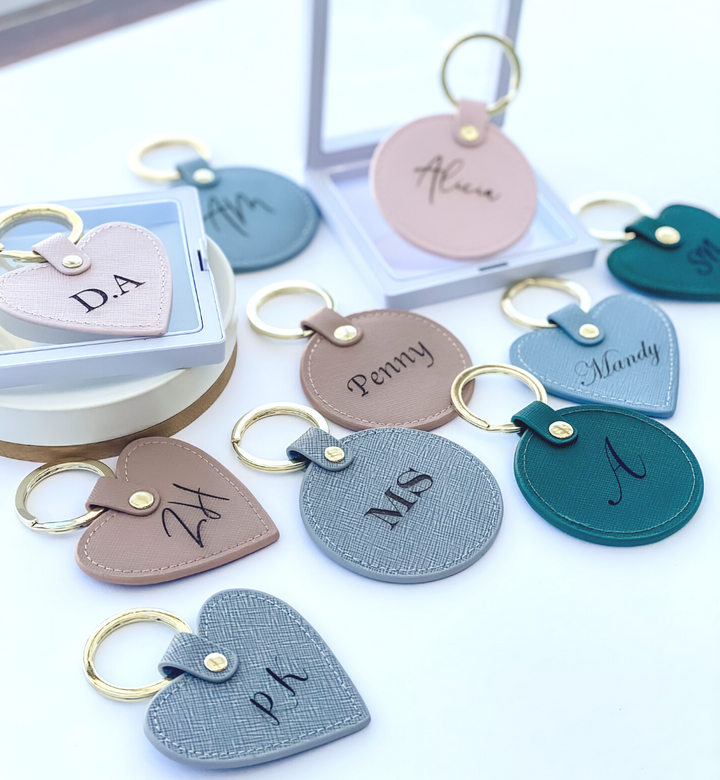 Personalised Luxe Leather Keyring