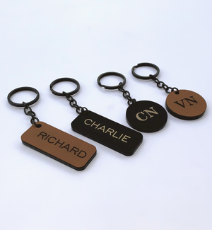 Luxury Leather personalised Keyrings