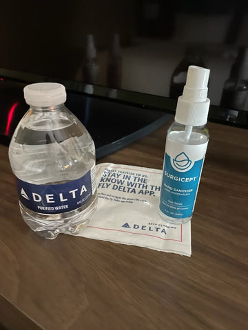 Surgicept hand sanitizer and Delta airlines