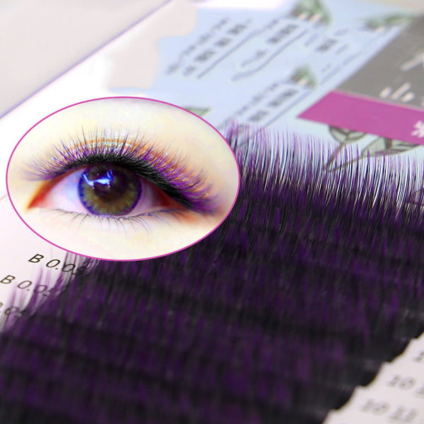 Ombre Color Purple blue Gradient color Individual eyelashes 0.05 eyelash extensions Premium soft mink eye lash free shipping