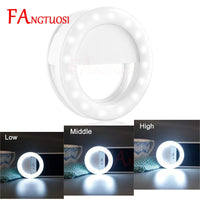 LED Phone Selfie Ring Light USB Charge Flash Photography Enhancing Camera Night Selfie Ring Light Clip For IPhone Samsung Huawei