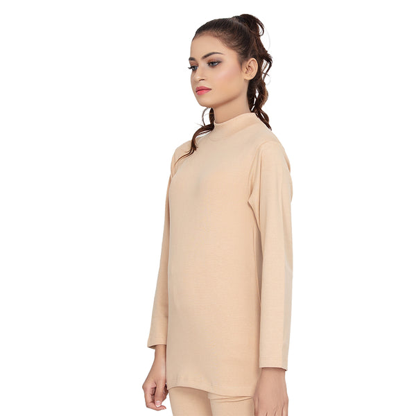 Soft Winter Thermal Hi-Neck Shirt