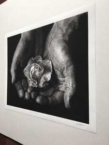 """Hands Of A Father"" Print"