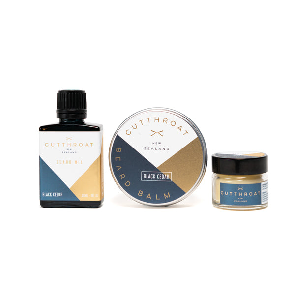 Black Cedar Beardcare & Moustache Gift Set