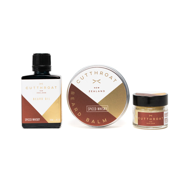 Spiced Whisky Beardcare & Moustache Gift Set