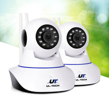 Load image into Gallery viewer, UL Tech Set of 2 1080P IP Wireless Camera - White