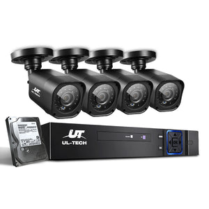 UL-Tech CCTV Security System 2TB 8CH DVR 1080P 4 Camera Sets
