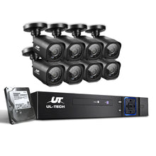 Load image into Gallery viewer, UL-Tech CCTV Security System 2TB 8CH DVR 1080P 8 Camera Sets