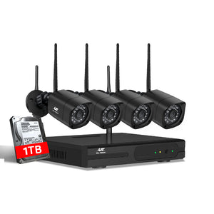 UL-tech CCTV Wireless Security Camera System 8CH Home Outdoor WIFI 4 Square Cameras Kit 1TB