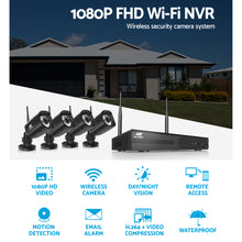 Load image into Gallery viewer, UL-tech CCTV Wireless Security Camera System 8CH Home Outdoor WIFI 4 Square Cameras Kit 1TB