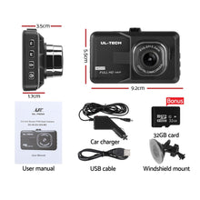 Load image into Gallery viewer, UL Tech 3 Inch Screen Dash Cam - Black