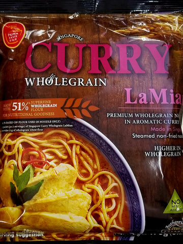 Curry Whole Grain La Mein Instant Noodle