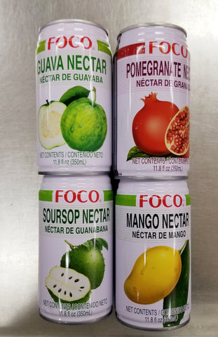 Tropical Fruit Drinks 4 Assorted Flavors