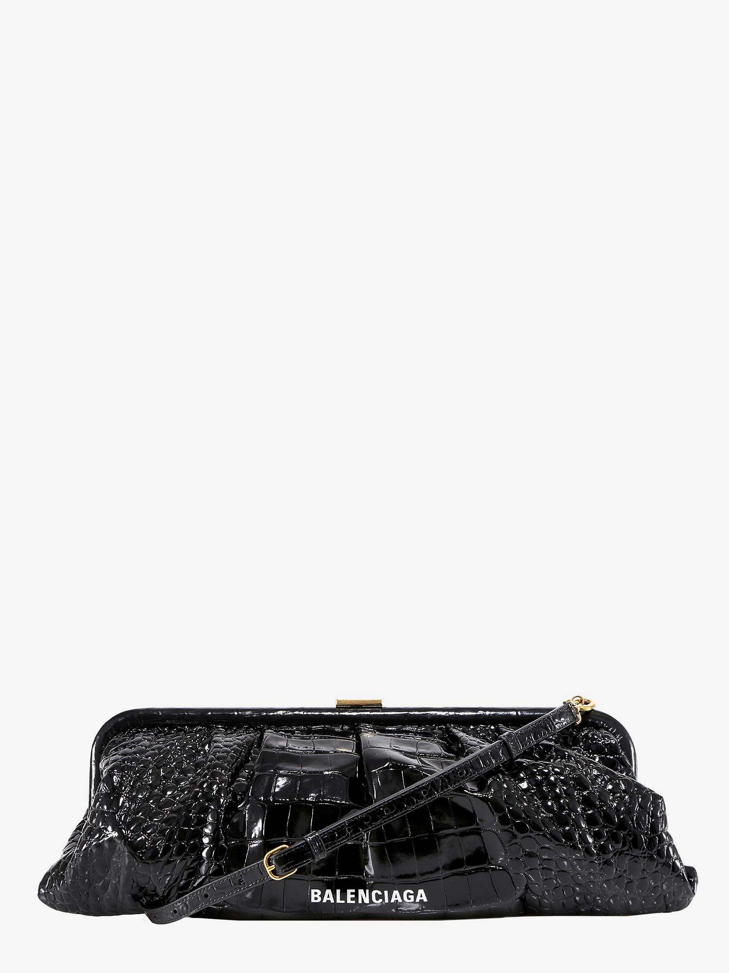 Balenciaga Clutch Cloud In Black