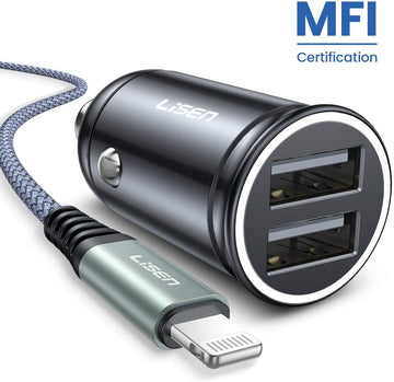 Car Charger With Iphone Cable