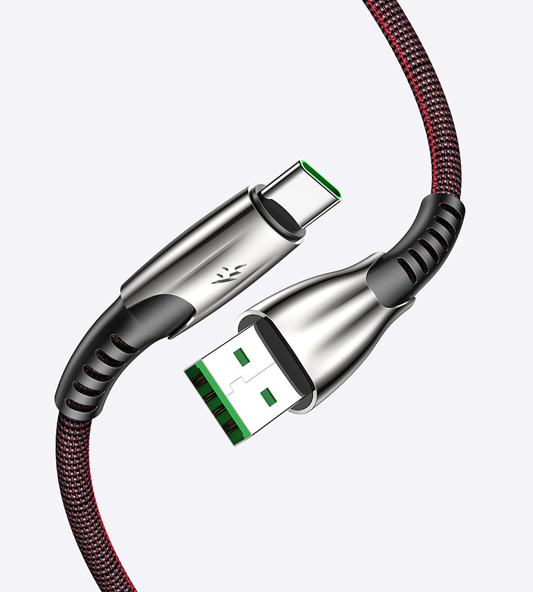 Type C Fast Charge Cable Durable Zinc Alloy Fabric Braided