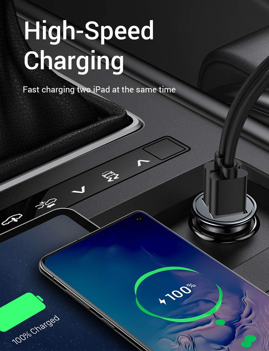 2 Packs 4.8A Car Charger