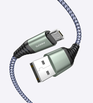 Nylon-braided micro USB cable