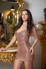 Load image into Gallery viewer, Blush Sequin Mini Dress