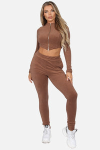 Soft Fleece legging & crop jacket