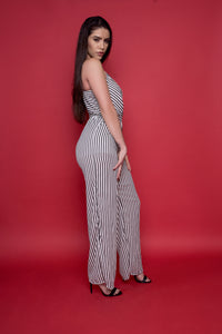 Stripe Black and White Jumpsuit