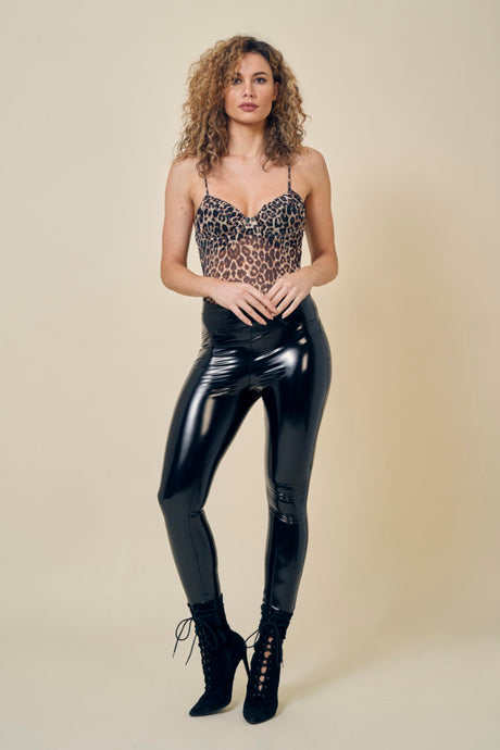 High shine vinyl Pants