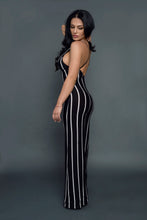 Load image into Gallery viewer, stripe black and white jumpsuit