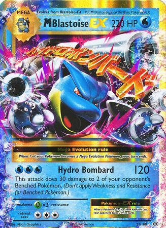 Pokemon Card XY Evolutions 22/108 Mega Blastoise EX Rare Holo ex